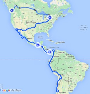 proposed route americas
