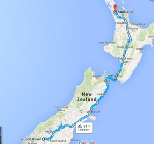 New Zealand cycle route