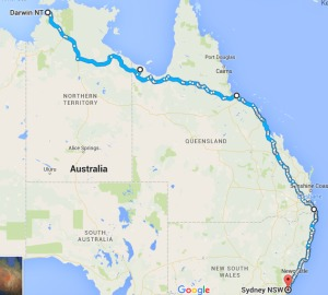 Australia cycling route