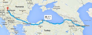 Turkey cycle route