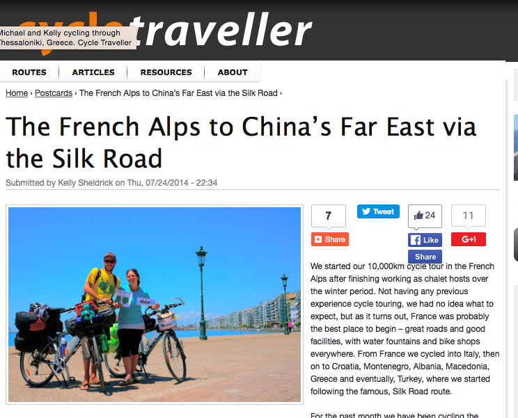 Cycle traveller media