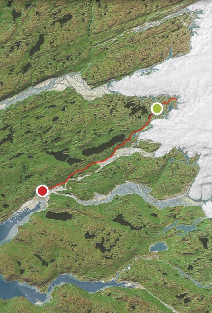 The Full Polar Marathon Route