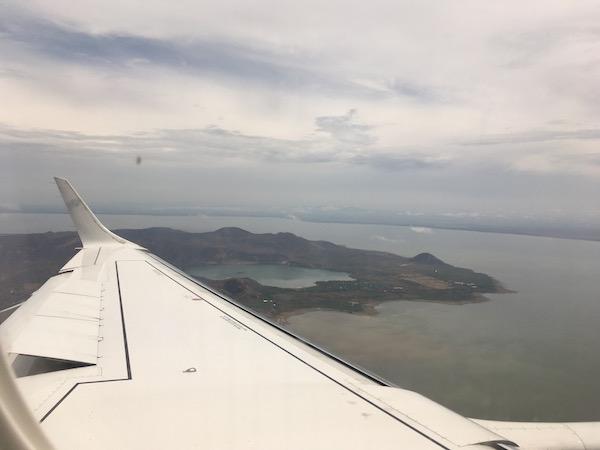 Flying into Managua, Nicaragua