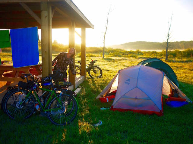Camping at the First Nations reserve