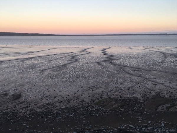 Mud Flats on the bay of fundy at low tide