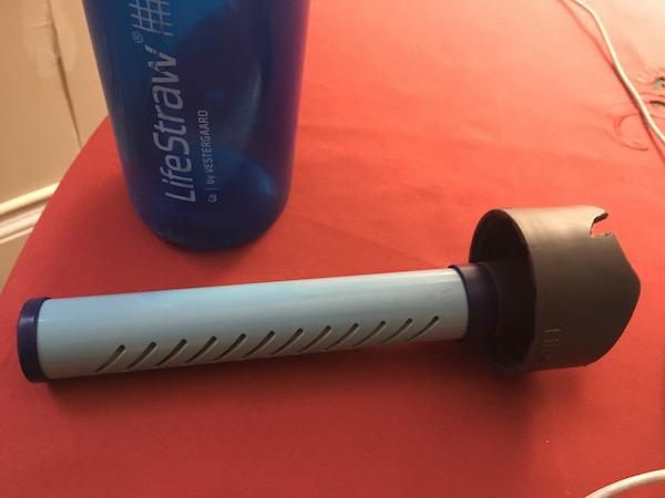 lifestraw bottle and straw