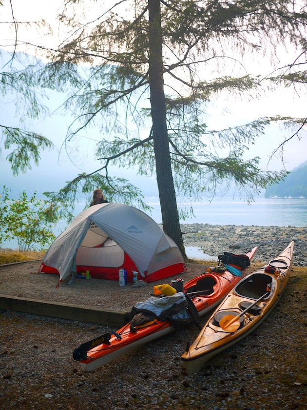 Kayaking in Deep Cove B.C & MSR HUBBA HUBBA NX 2 PERSON TENT: Gear Review u2013 Cycle Trekkers