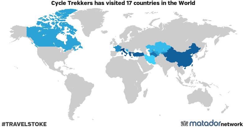 Cycle Trekkers's Travel Map