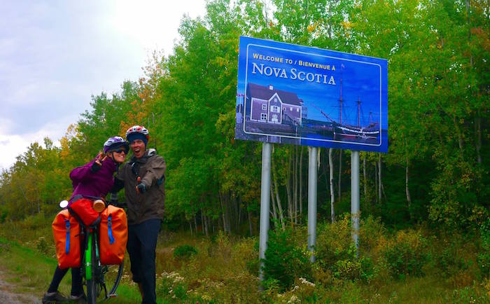 nova scotia sign, Cycling Nova Scotia: Halifax