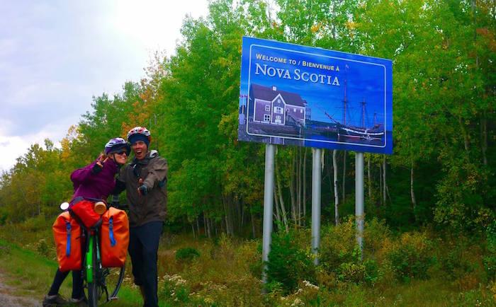 nova scotia sign, Cycling Nova Scotia: Halifax