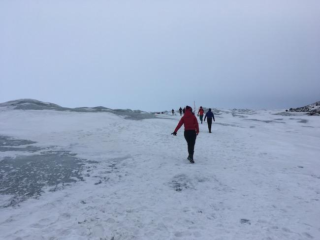 running on the ice cap
