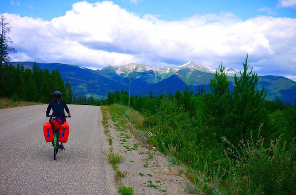 make money while cycle touring, cycling to the Canadian Rockies