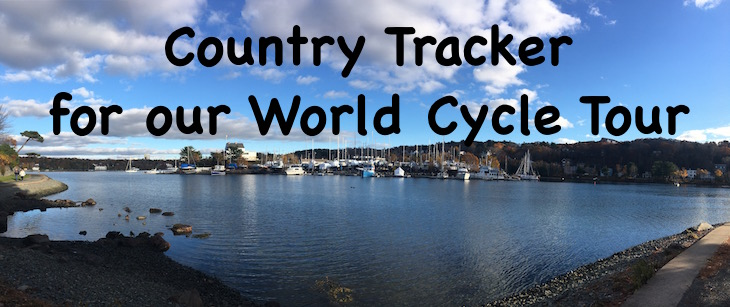 country tracker for our world cycle tour