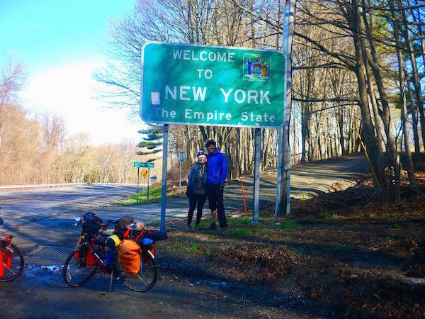 Cycling the Erie Canal Trail and new york